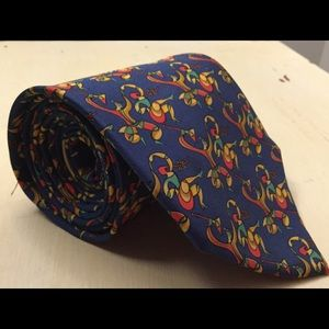 Salvatore Ferragamo 100% silk medieval dancing tie